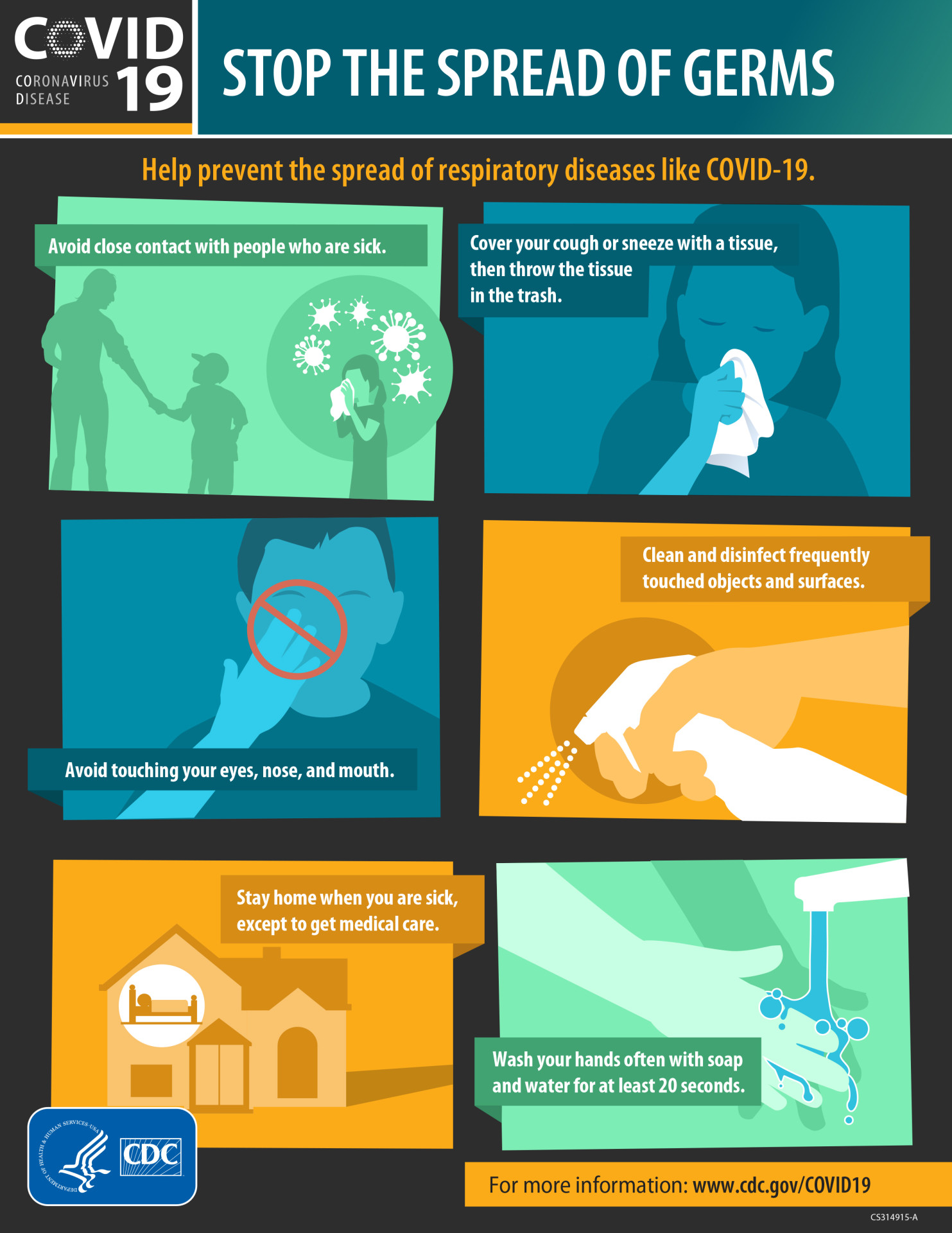 www.cdc.gov inforgraphic on how to stop the spread of disease