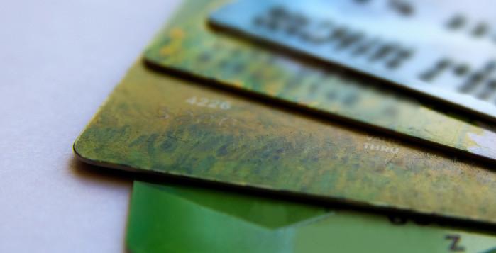 Stack of credit/debit cards